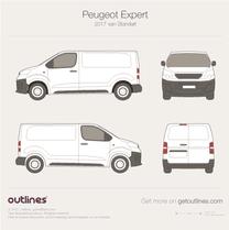 2017 Peugeot Expert Mk III Standart Van blueprint
