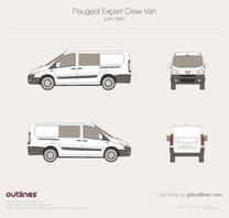 2007 Peugeot Expert Crew Van L2 H1 Van blueprint