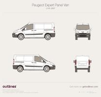 2007 Peugeot Expert Panel Van L1 H1 Van blueprint