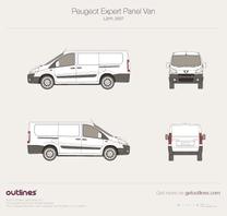 2007 Peugeot Expert Panel Van L2 H1 Van blueprint