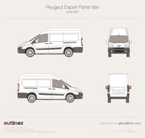 2007 Peugeot Expert Panel Van L2 H2 Van blueprint