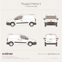 2008 Peugeot Partner Panel Van L1 Van blueprint