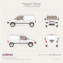 2002 Peugeot Partner Panel Van L1 Facelift Van blueprint