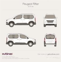 2018 Peugeot Rifter Minivan blueprint