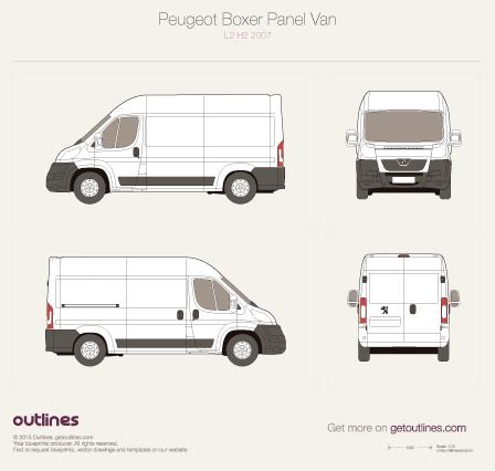 2007 Peugeot Boxer Panel Van L2 H2 Van blueprint