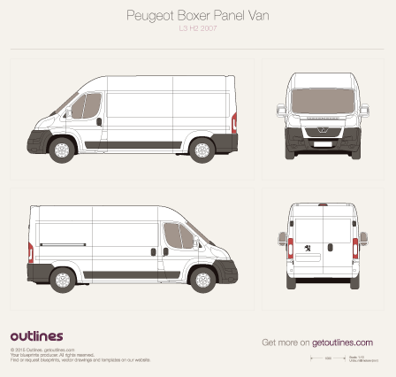 2007 Peugeot Boxer Panel Van Van blueprints and drawings
