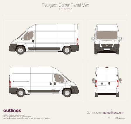 2007 Peugeot Boxer Panel Van L3 H3 Van blueprint
