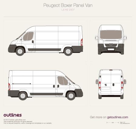 2007 Peugeot Boxer Panel Van L4 H2 Van blueprint