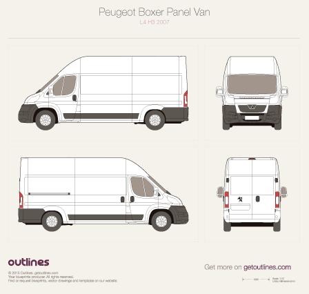 2007 Peugeot Boxer Panel Van L4 H3 Van blueprint