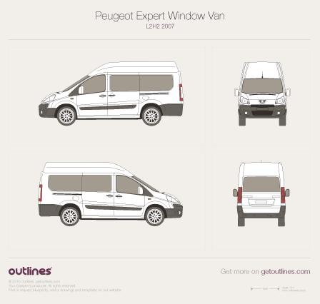 2007 Peugeot Expert Window Van Wagon blueprints and drawings