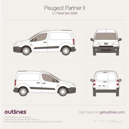 2008 Peugeot Partner Panel Van Van blueprints and drawings