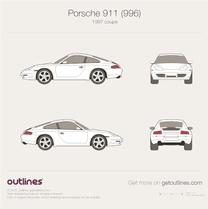 Porsche 911 blueprint