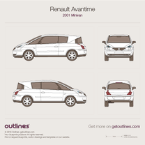 2001 Renault Avantime Minivan blueprint