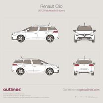 2012 Renault Clio IV Sport Tourer Wagon blueprint
