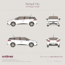 Renault Clio blueprint