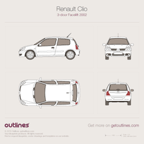 Renault Clio blueprint