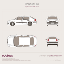 Renault Clio Symbol blueprint