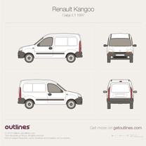 1997 Renault Kangoo Cargo L1 Van blueprint