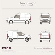 2003 Renault Kangoo Cargo L1 Facelift Van blueprint