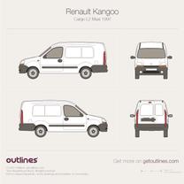 1997 Renault Kangoo Cargo Maxi L2 Van blueprint