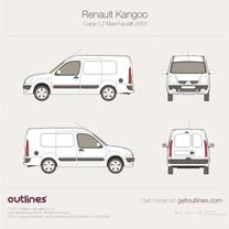 2003 Renault Kangoo Cargo Maxi L2 Facelift Van blueprint