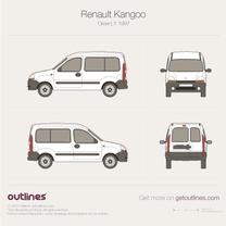 1997 Renault Kangoo Crew Van L1 Van blueprint