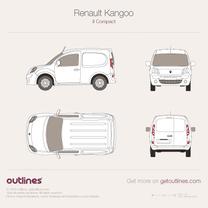 2008 Renault Kangoo Compact Van SWB Van blueprint