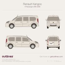 2008 Renault Kangoo Passenger LWB Wagon blueprint