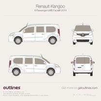 2014 Renault Kangoo Passenger LWB Facelift Wagon blueprint