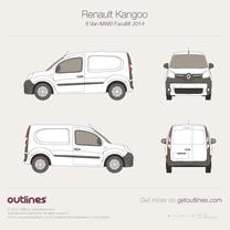 2014 Renault Kangoo Van MWB Facelift Van blueprint