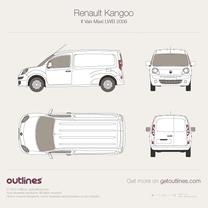 2008 Renault Kangoo Maxi Van LWB Van blueprint