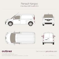 2014 Renault Kangoo Maxi Van LWB Facelift Van blueprint