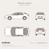 2005 Renault Laguna II X74 Facelift Hatchback blueprint