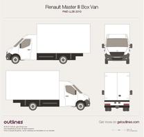 2010 Renault Master Box Van FWD LL35 Van blueprint