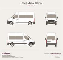 2010 Renault Master Combi 6 seats SL30 Minivan blueprint