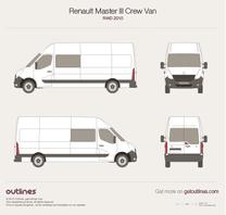 2010 Renault Master Crew Van RWD Van blueprint