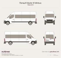 2010 Renault Master Minibus Trabus Bus blueprint