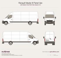 2010 Renault Master Panel Van LWB Medium Roof RWD Twin Wheels Van blueprint