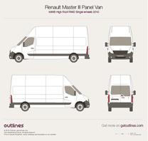 2010 Renault Master Panel Van MWB High Roof RWD Van blueprint