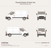 Renault Master Drawings All Generations Outlines