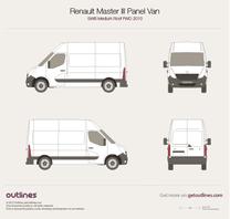 2010 Renault Master Panel Van SWB Medium Roof FWD Van blueprint