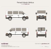 2003 Renault Master Minibus L1 H1 Facelift Wagon blueprint