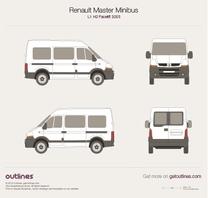 2003 Renault Master Minibus L1 H2 Facelift Wagon blueprint