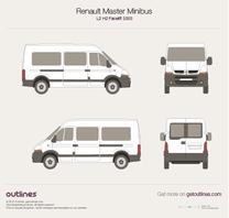 2003 Renault Master Minibus L2 H2 Facelift Wagon blueprint