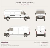 2003 Renault Master Panel Van L3 H2 Facelift Van blueprint