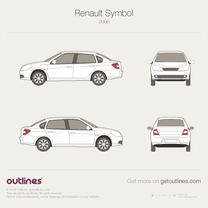 2008 Renault Clio Symbol II Sedan blueprint