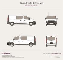 2014 Renault Trafic X82 Crew Van LWB Low Roof Van blueprint