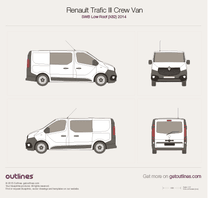 2014 Renault Trafic X82 Crew Van SWB Low Roof Van blueprint