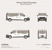 2014 Renault Trafic X82 Passenger LWB Low Roof Minivan blueprint