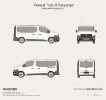 2014 Renault Trafic X82 Passenger SWB Low Roof Minivan blueprint
